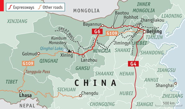 China rushing new Beijing-Lhasa expressway for security reasons?