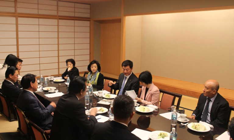 Exile Tibetan leader briefs Japanese MPs on Tibet issue