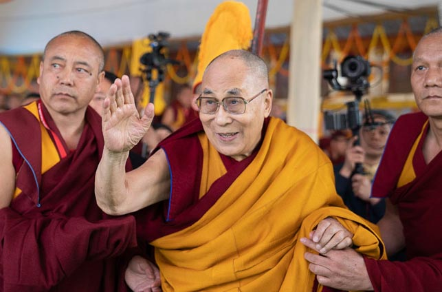 It was an evacuation drill, Dalai Lama is fine