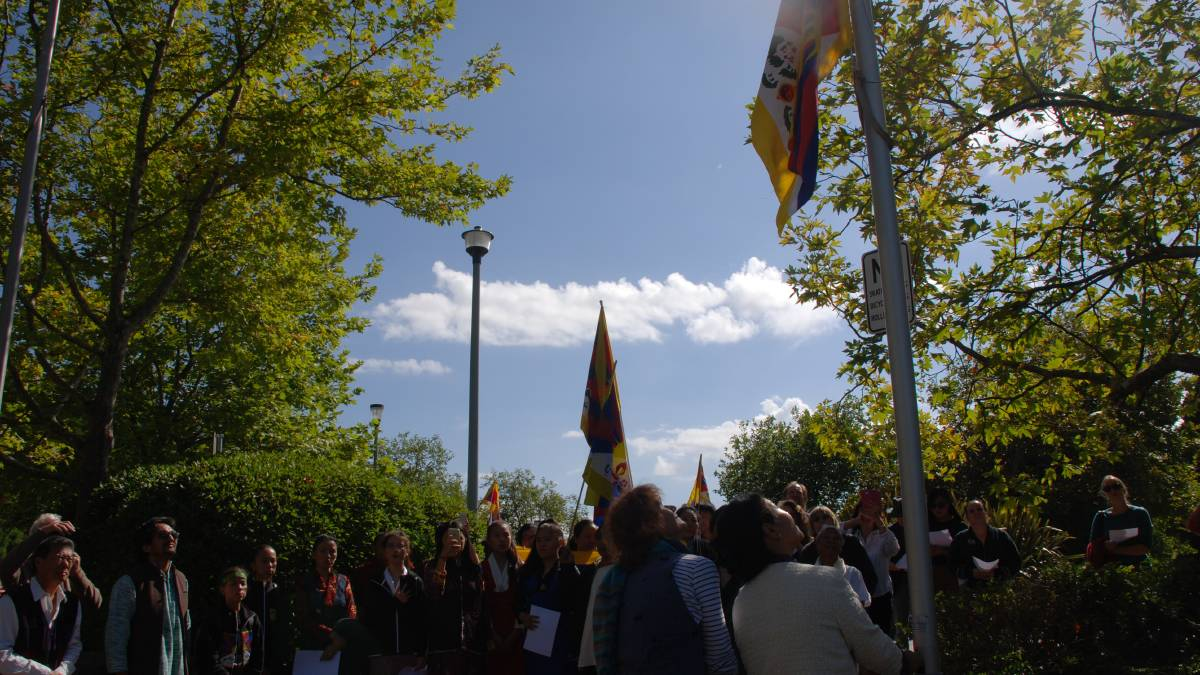 Tibetan flag raised first time at council chamber in Australia ahead of 60 uprising anniversary
