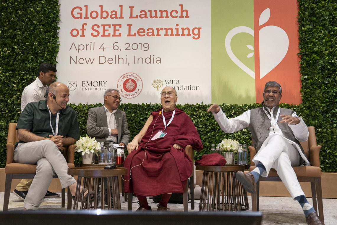 Dalai Lama makes global launch of Social, Emotional and Ethical learning programme
