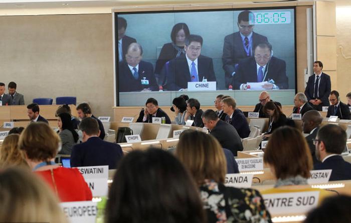 China subverted top UN rights body, arm-twisting client-states into praising it