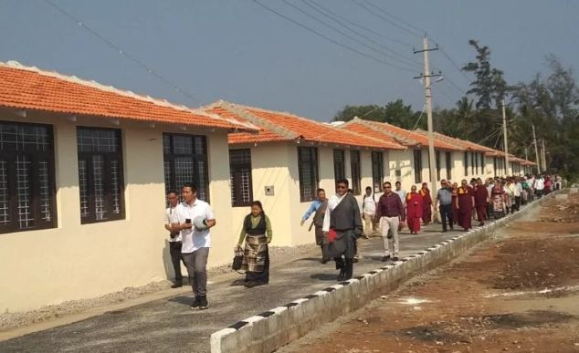 Relatively recent arrivals from Tibet get new village in Bylakuppe Tibetan settlement