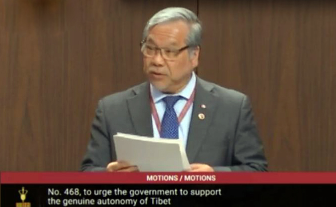 Senate motion in Canada urges autonomy, rights support for Tibet
