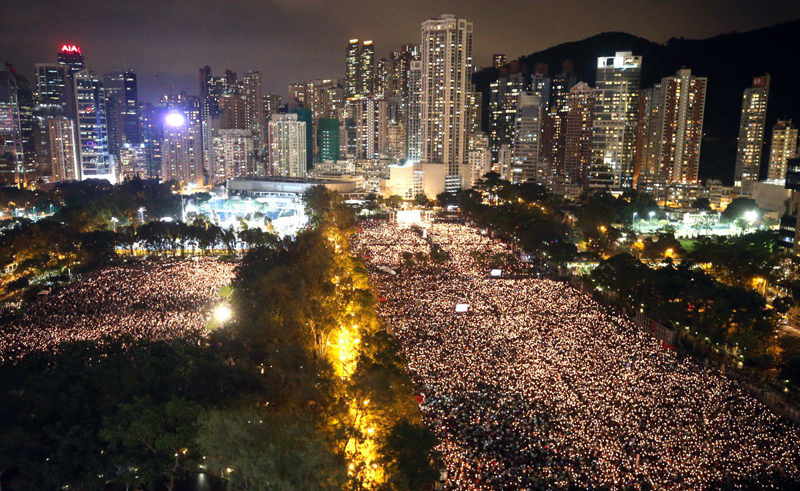 Record Hong Kong turnout as world remembers 1989 Tiananmen massacre