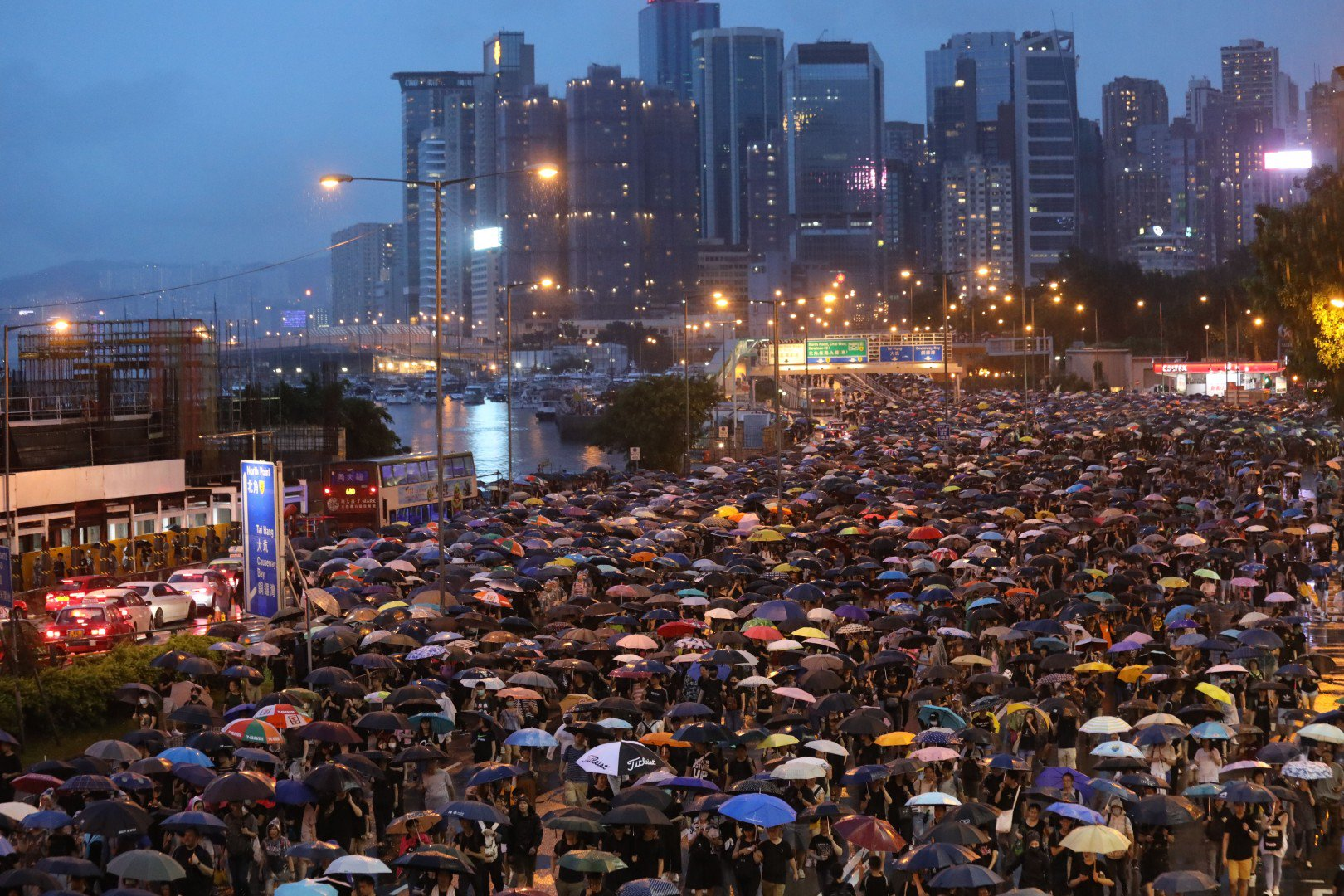 Eleventh weekend protest in Hong Kong peaceful and biggest since Jul 1