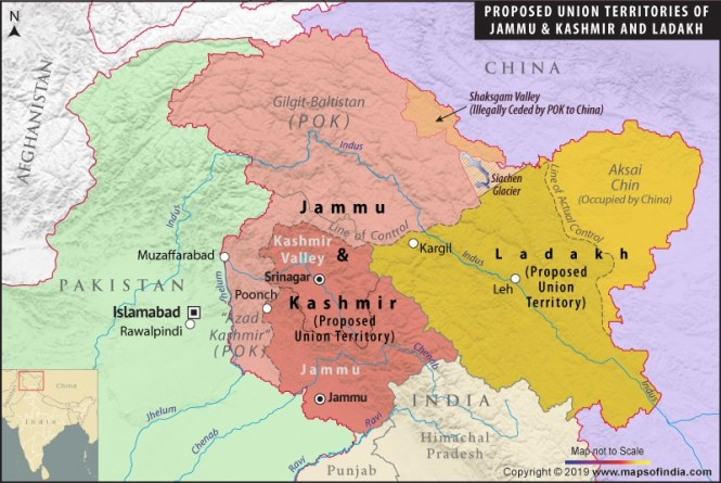 China objects to India's assumption of direct rule over Ladakh, partly ruled by it