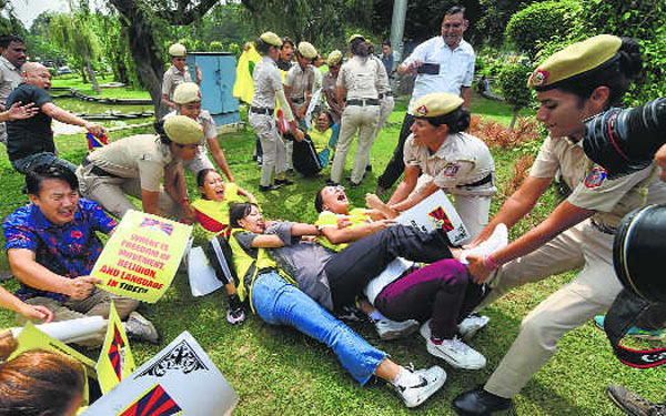 Forty Four Tibetan youths held for New Delhi protest on 70th China anniversary