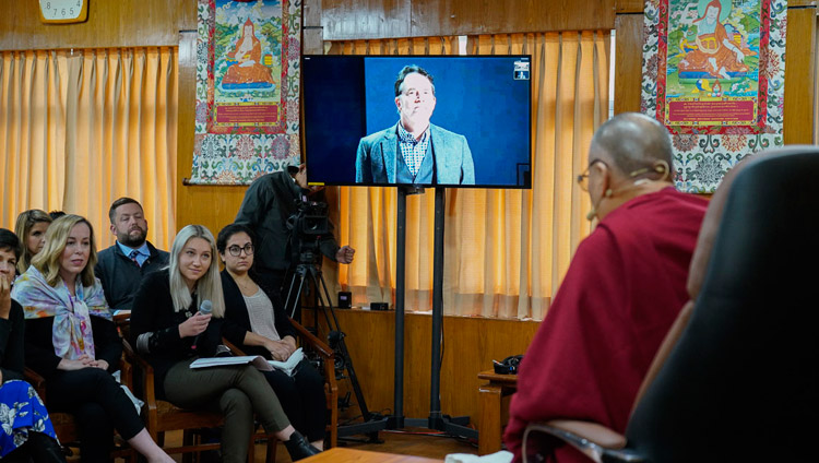 Dalai Lama holds change-through-compassion online conversation with delegation from Washington State
