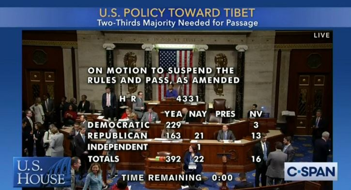 House approves new US policy bill on Tibet issue