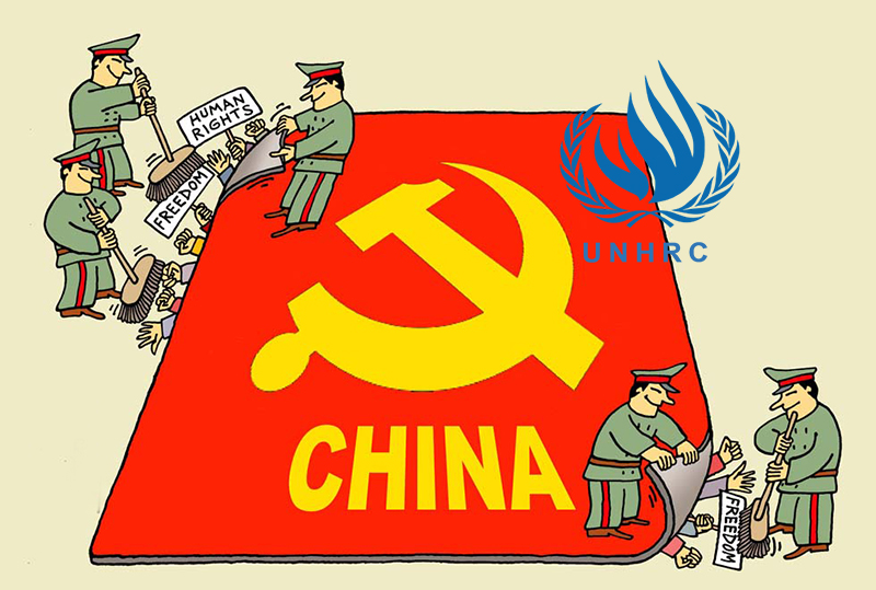 China now vying for a UN right council seat amid strong international criticisms