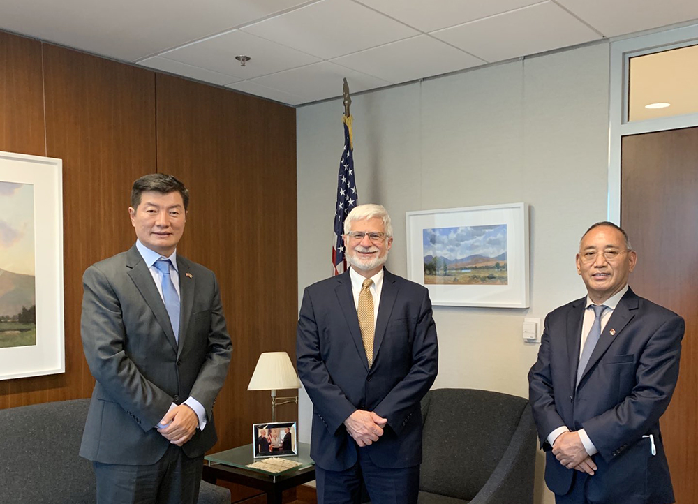 Exile Tibetan administration head's first meeting in US State Department hailed as historic