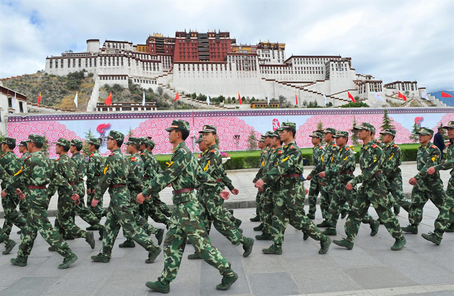 China staged military drill, strengthened security ahead of Mar 10 Tibet uprising day