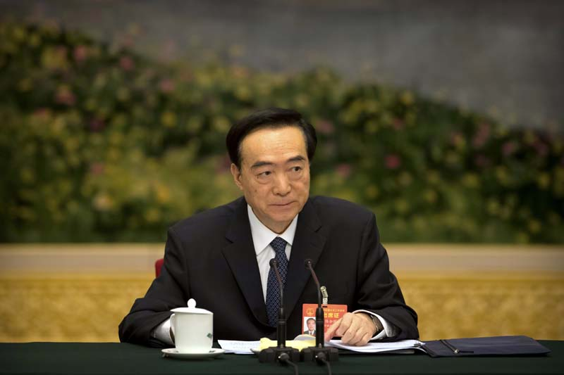 Politburo member among three senior officials sanctioned by US for Xinjiang atrocities